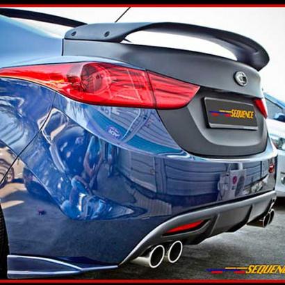 Спойлер на крышку багажника на Hyundai Elantra 5 (Avante MD)