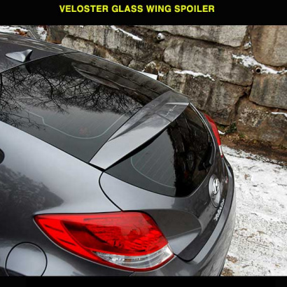 Задний спойлер на стекло на Hyundai Veloster
