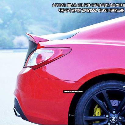 Лип-спойлер крышки багажника на Hyundai Genesis 1