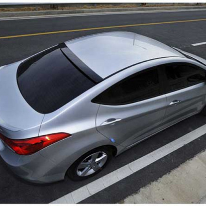 Лип-спойлер на багажник на Hyundai Elantra 5 (Avante MD)