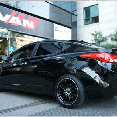 Лип-спойлер на крышку багажника на Hyundai Elantra 5 (Avante MD)