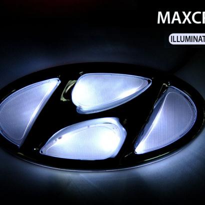 Эмблемы с LED подсветкой  на Hyundai Santa Fe 3 (DM)