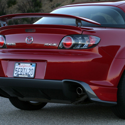 Накладка на задний бампер на Mazda RX-8
