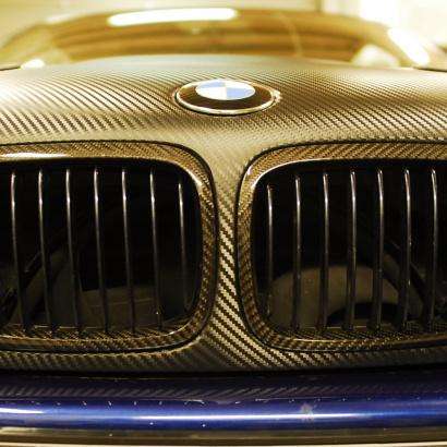 Ноздри решетки радиатора на BMW 3 E46
