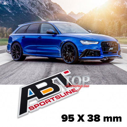 Шильд алюминиевый на клеевой основе ABT Sportline 95x38 mm на Audi