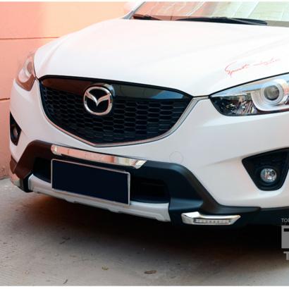 Накладка переднего бампера с ходовыми огнями на Mazda CX-5 1 поколение