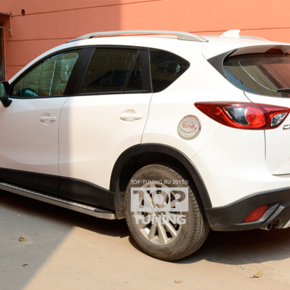 Диффузор - накладка на задний бампер - обвес на Mazda CX-5