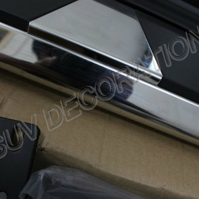 Металлические пороги подножки на Mazda CX-5