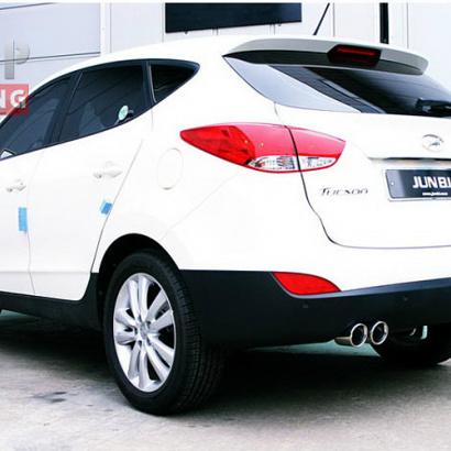 Раздвоенная выхлопная система на Hyundai ix35