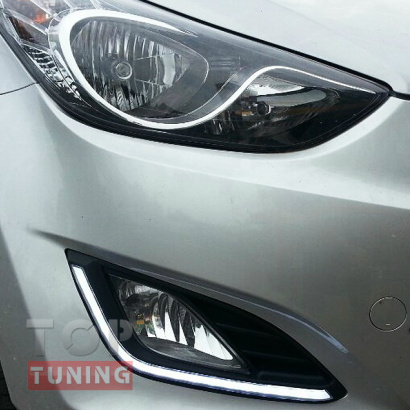 Ходовые огни с указателями поворотов на Hyundai Elantra 5 (Avante MD)