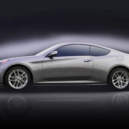 Накладки на пороги  на Hyundai Genesis 1