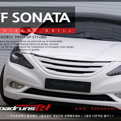 Решетка радиатора на Hyundai Sonata 6 (YF)