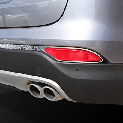 Молдинг заднего бампера и ПТФ на Hyundai Santa Fe 3 (DM)
