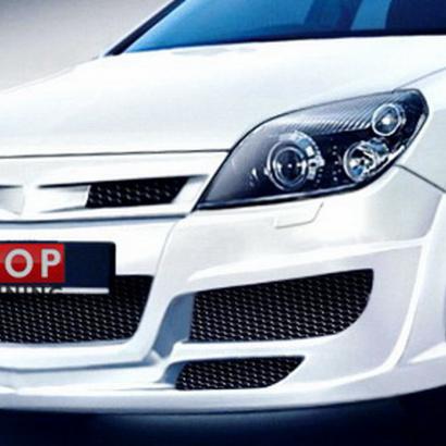 Передний бампер - обвес на Opel Astra H 5D