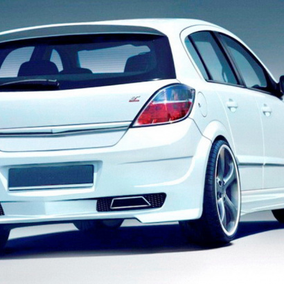 Задний бампер - обвес на Opel Astra H 5D