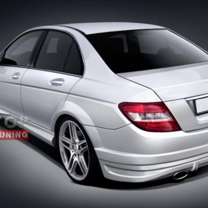 Задний бампер - тюнинг на Mercedes C-Class W204