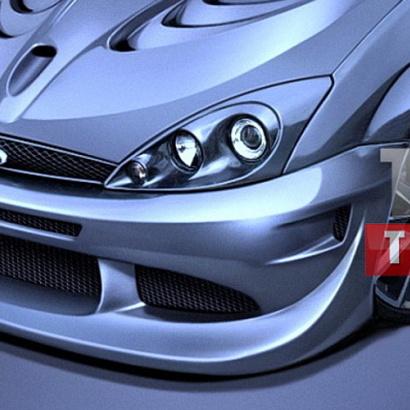 Передний бампер - обвес на Ford Focus 1