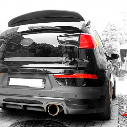 Накладка на задний бампер на Kia Sportage 3 (III)