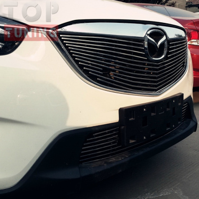 Решетка радиатора и бампера Karakurt на Mazda CX-5 1 поколение
