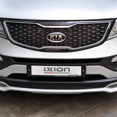 Накладка на передний бампер IXION на Kia Sportage 3 (III)