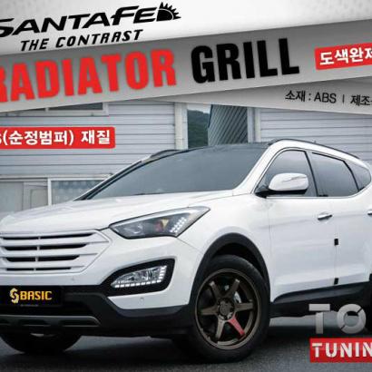 Решетка радиатора SQ Basic на Hyundai Santa Fe 3 (DM)