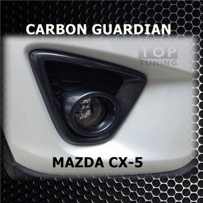 Накладки на передние противотуманные фары на Mazda CX-5 1 поколение