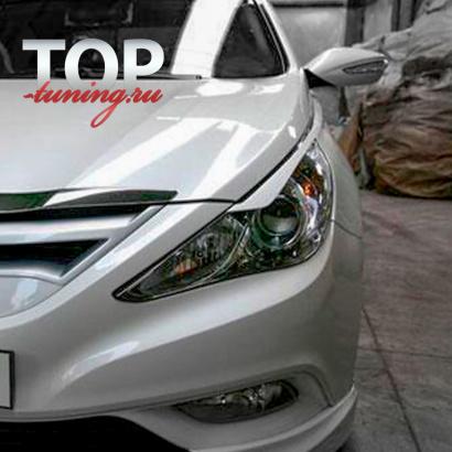 Реснички  F&B ABS на Hyundai Sonata 6 (YF)
