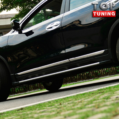 Накладки на двери TECH Design Chrome на Nissan X-Trail T32