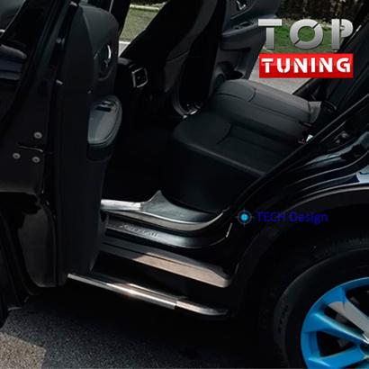 Накладки на внутренние пороги TECH Design на Nissan X-Trail T32