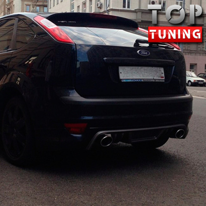Тюнинг - Юбка на задний бампер RIEGER Sport дорестайлинг на Ford Focus 2