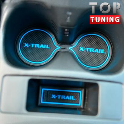 Резиновые вставки в салон на Nissan X-Trail T32