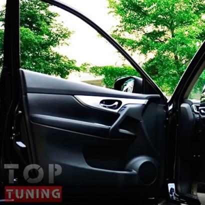 Внутренние вставки в двери на Nissan X-Trail T32