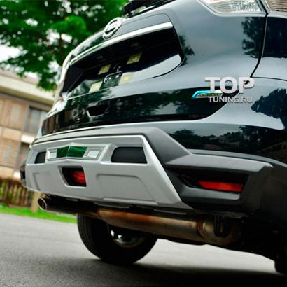Юбка на задний бампер TECH Design 4sport на Nissan X-Trail T32