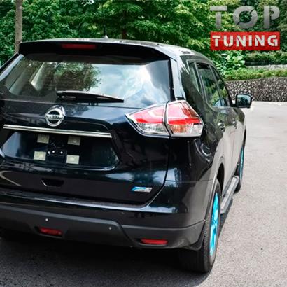 Накладки на задние фонари на Nissan X-Trail T32