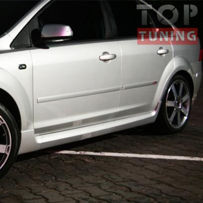 Накладки на пороги ST ABS на Ford Focus 2