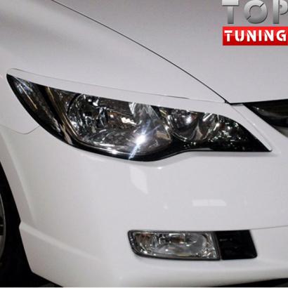 Накладки - Реснички GT на Honda Civic 4D (8)