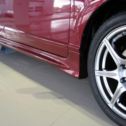 Комплект боковых порогов на Honda Civic 4D (8)