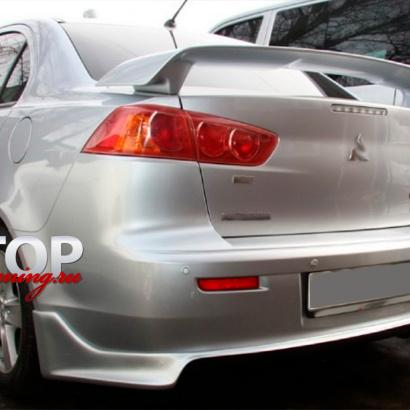 Юбка на задний бампер на Mitsubishi Lancer 10 (X)