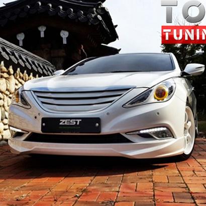 Тюнинг - Юбка на передний бампер ZEST на Hyundai Sonata 6 (YF)
