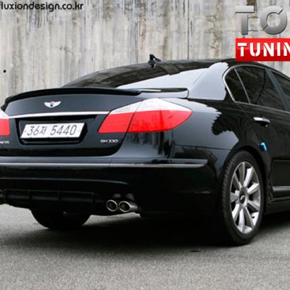 Тюнинг - Спойлер Fluxion Design на Hyundai Genesis 1