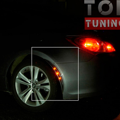 Накладки арок с светодиодной подсветкой на Hyundai Veloster