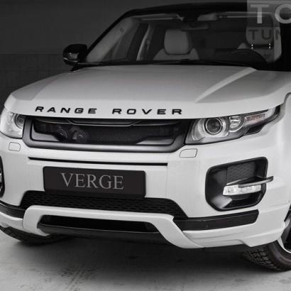 Тюнинг - юбка переднего бампера на Land Rover Range Rover Evoque