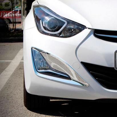 Молдинги ПТФ на Hyundai Elantra 5 (Avante MD)