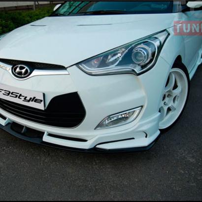 Тюнинг - Накладка на передний бампер на Hyundai Veloster