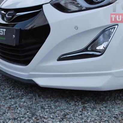 Тюнинг - Юбка переднего бампера на Hyundai Elantra 5 (Avante MD)
