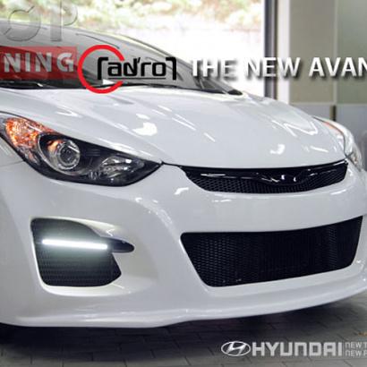 Тюнинг - Передний бампер с ДХО на Hyundai Elantra 5 (Avante MD)