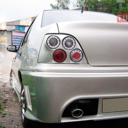 Задний бампер на Daewoo Nexia