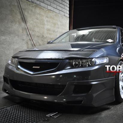 Накладка на передний бампер на Honda Accord 7