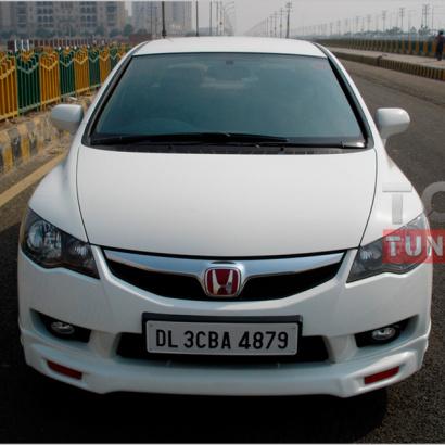 Юбка переднего бампера на Honda Civic 4D (8)