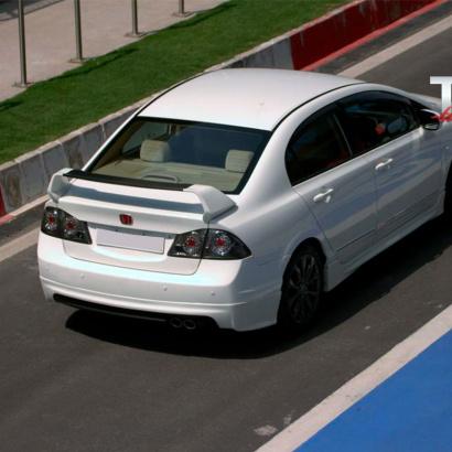 Юбка заднего бампера на Honda Civic 4D (8)
